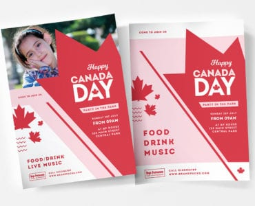 Modern Canada Day Poster Templates