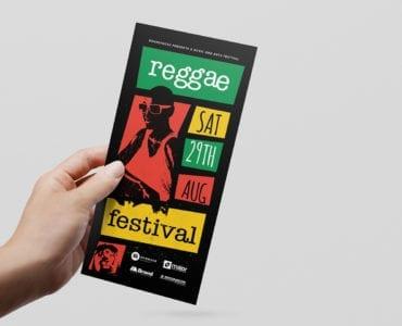 Reggae Festival DL Card Template