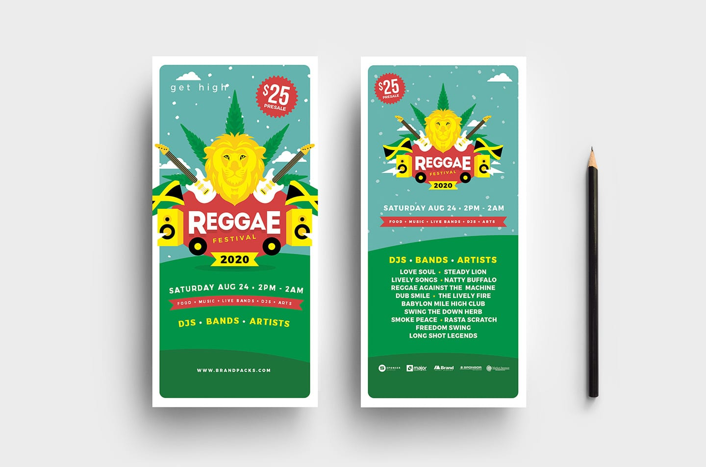 Reggae Festival DL Card Template