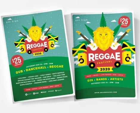 Reggae Festival Flyer / Poster Templatea