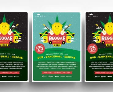 Reggae Festival Templates Colours