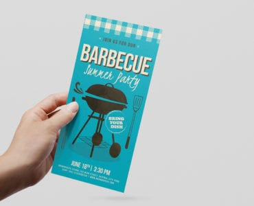 Retro BBQ DL Card Template
