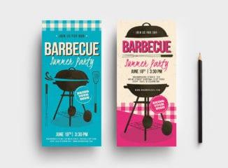Retro Barbecue DL Card Template