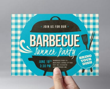 Retro BBQ Flyer Template