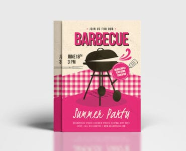 Retro BBQ Poster / Flyer Template