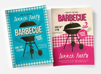 Retro BBQ Poster / Flyer Templates