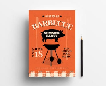 Rustic Barbecue Poster Template