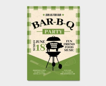Rustic Barbecue Poster / Flyer Template