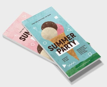 Summer Ice Cream DL Card Template