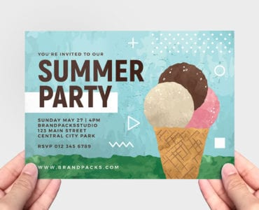 Summer Ice Cream Flyer Template