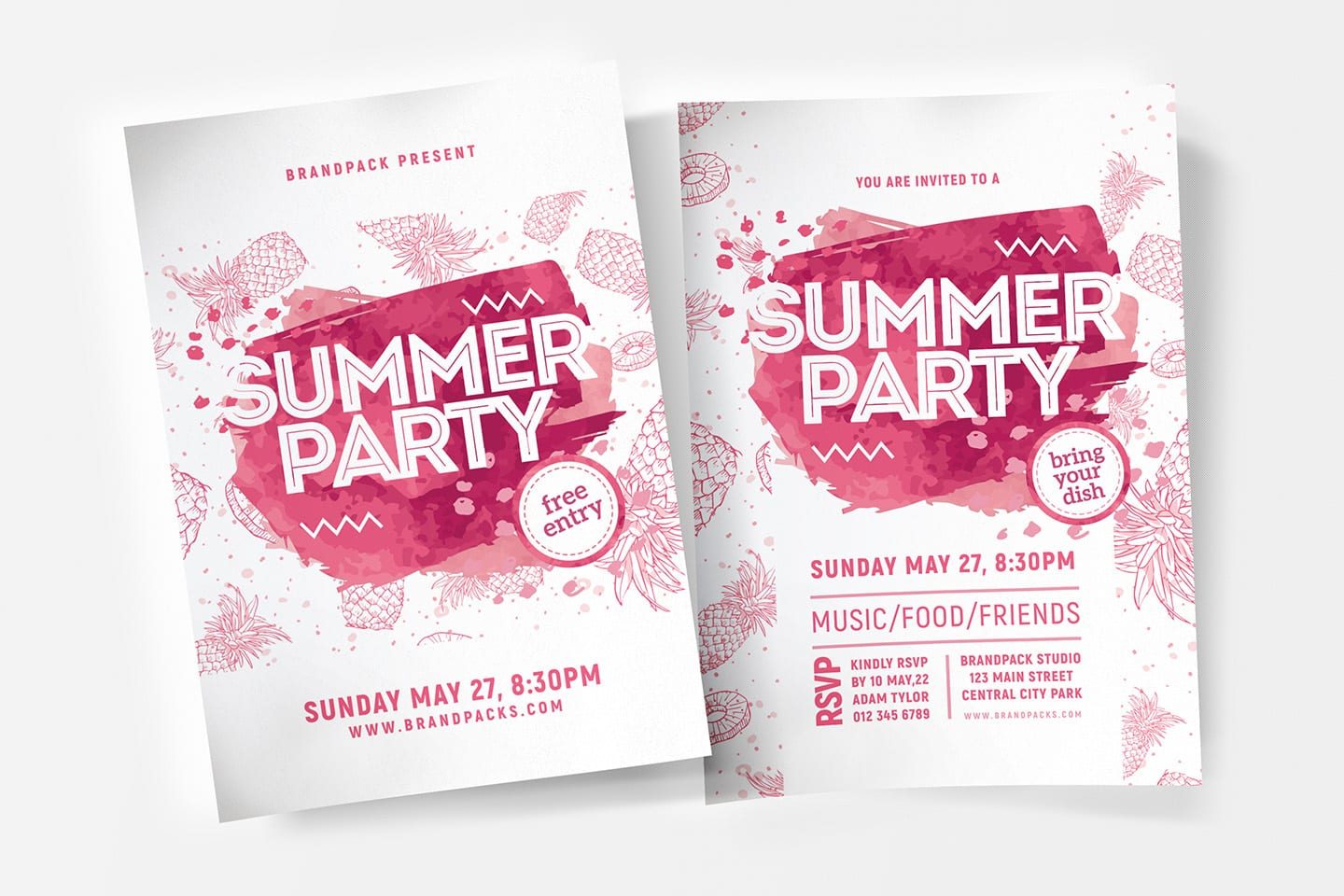 Summer Party Poster Template Psd Ai Vector Brandpacks