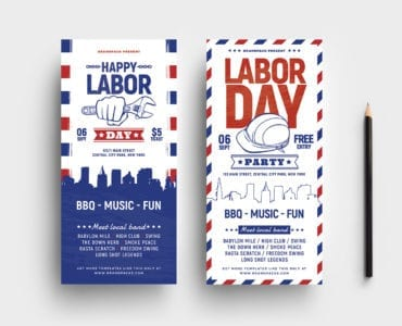 DL Labor Day Rack Card Template