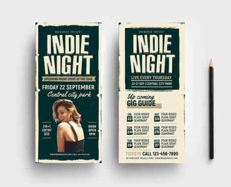Indie Night DL Card Template