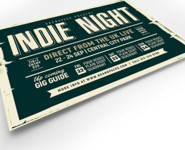 Indie Night Flyer Template