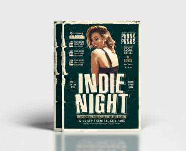 Indie Night Poster Template