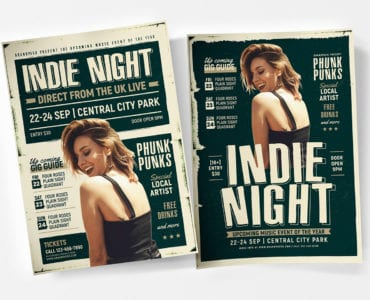 Indie Night Poster Templates