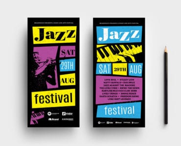 Jazz Night DL Card Template