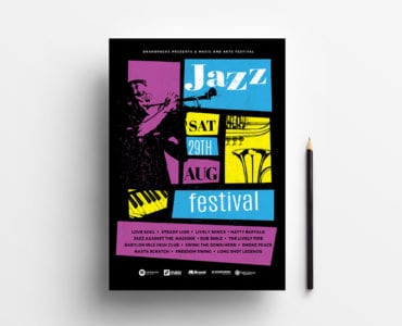 Jazz Night Poster Template