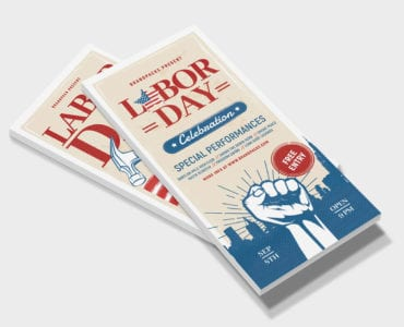 Labor Day DL Rack Card Template