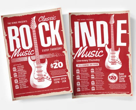 Live Music Poster Templates