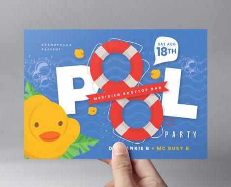 Pool Party Flyer Template v1