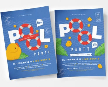 Pool Party Poster Template v1