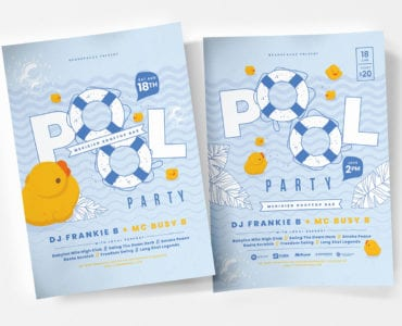Pool Party Poster Template v2