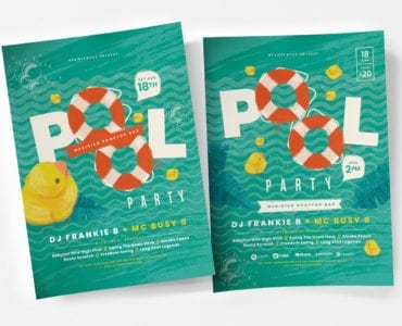 Pool Party Poster Template v3