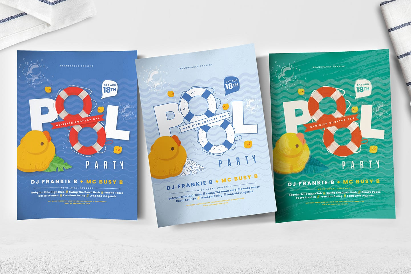 Pool Party Poster Templates