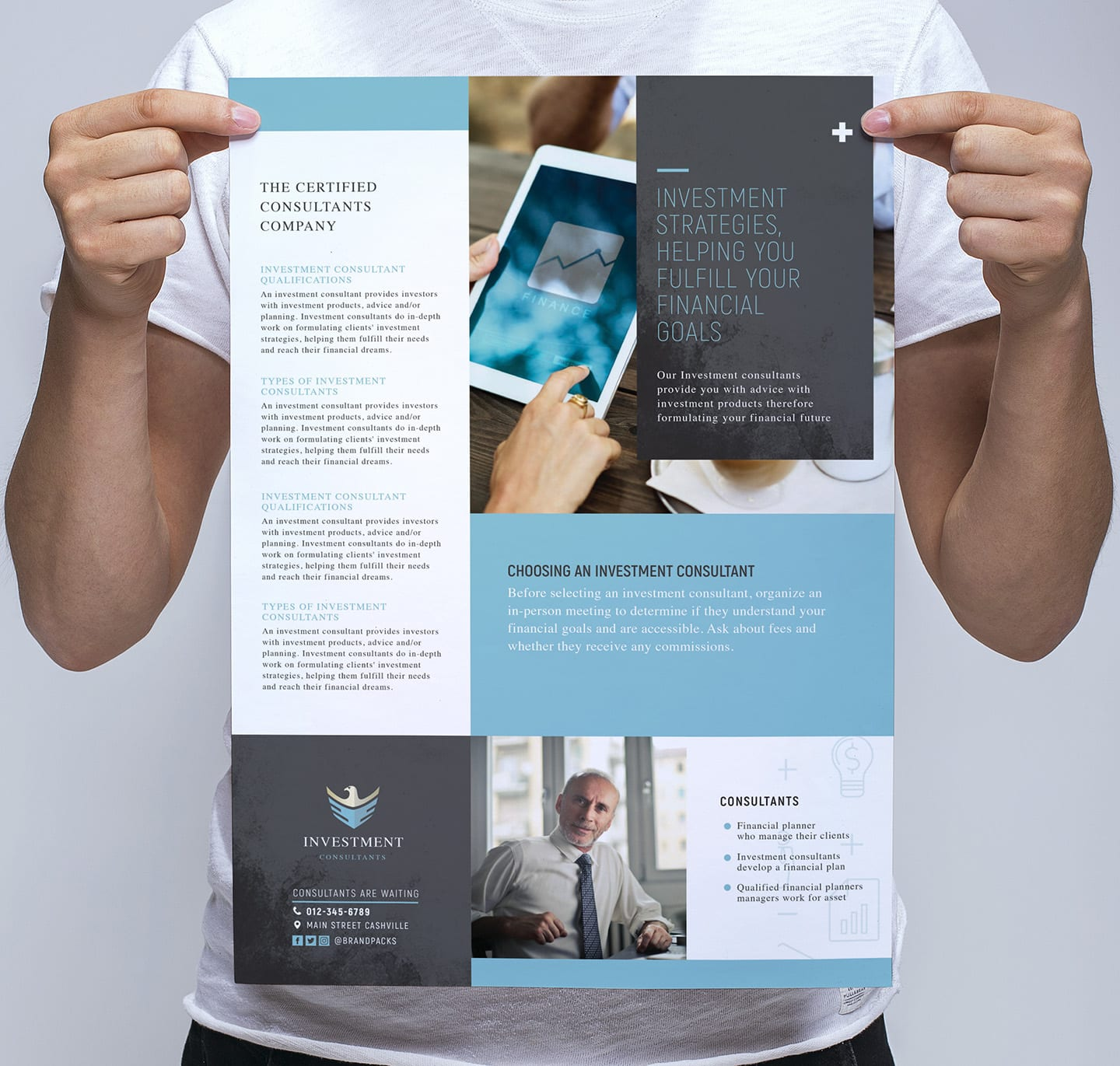 Investment Consultant Poster Template - PSD, Ai & Vector