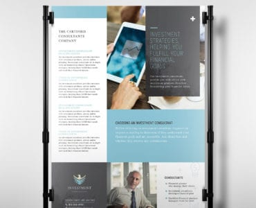 A3 Investment Consultant Poster Template