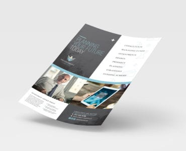 A4 Investment Consultant Poster Template