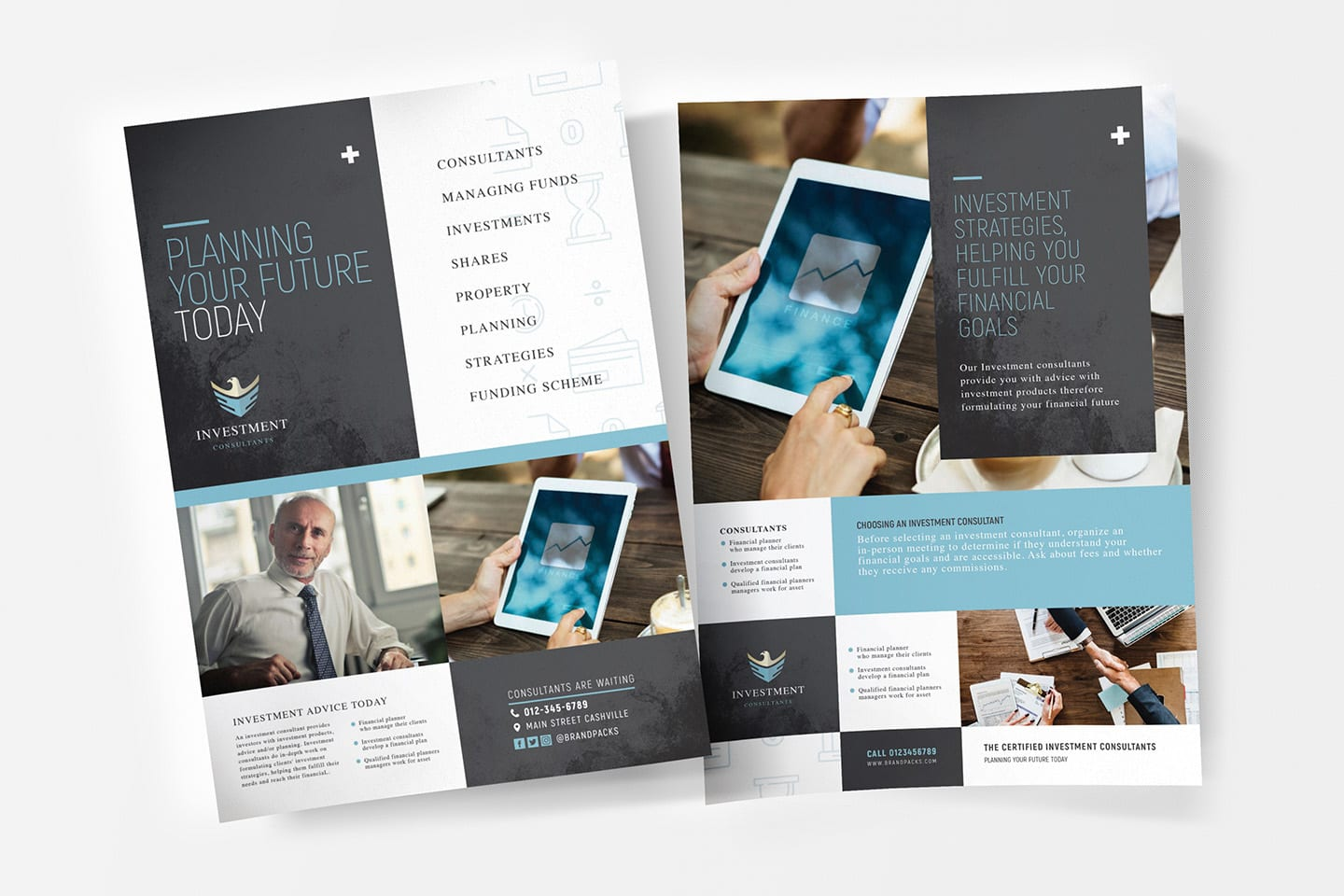 A4 Investment Consultant Poster Templates