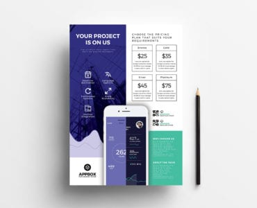 Mobile App Poster / Advertisement Template