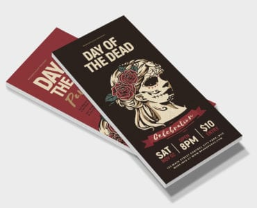 Day of The Dead DL Card Template