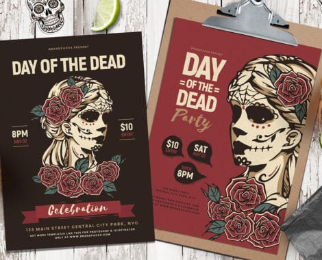 Day of The Dead Poster Templates