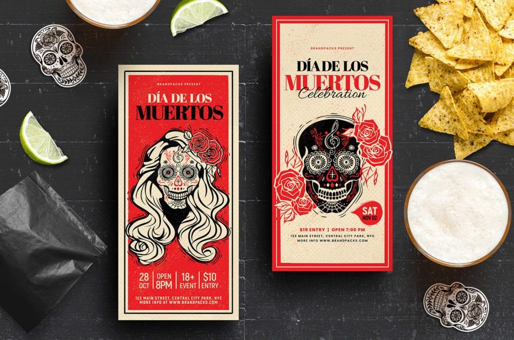 Dia De Lost Muertos DL Card Templates