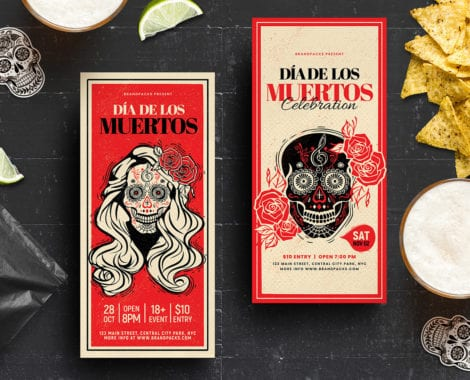 Dia De Lost Muertos DL Card Templates