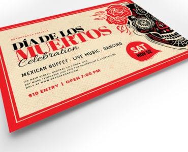 Dia De Los Muertos Flyer Template