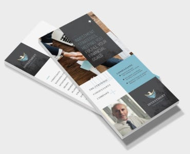Investment Consultant DL Card Template
