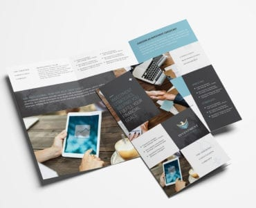investment Consultant Tri-Fold Brochure Template