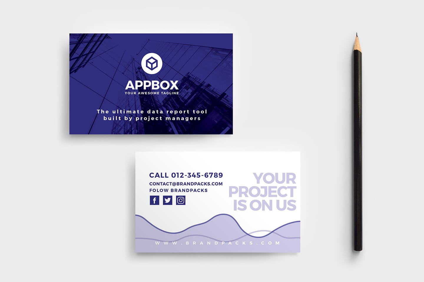Mobile App Business Card Template