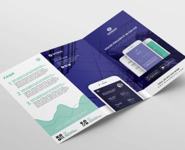 Mobile App Tri Fold Brochure Template