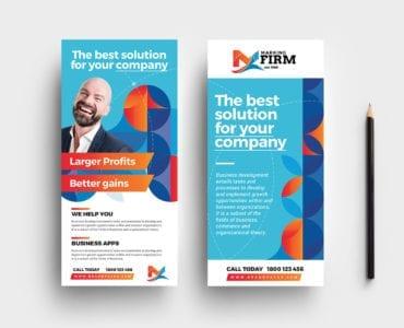 Modern Corporate DL Card Templates