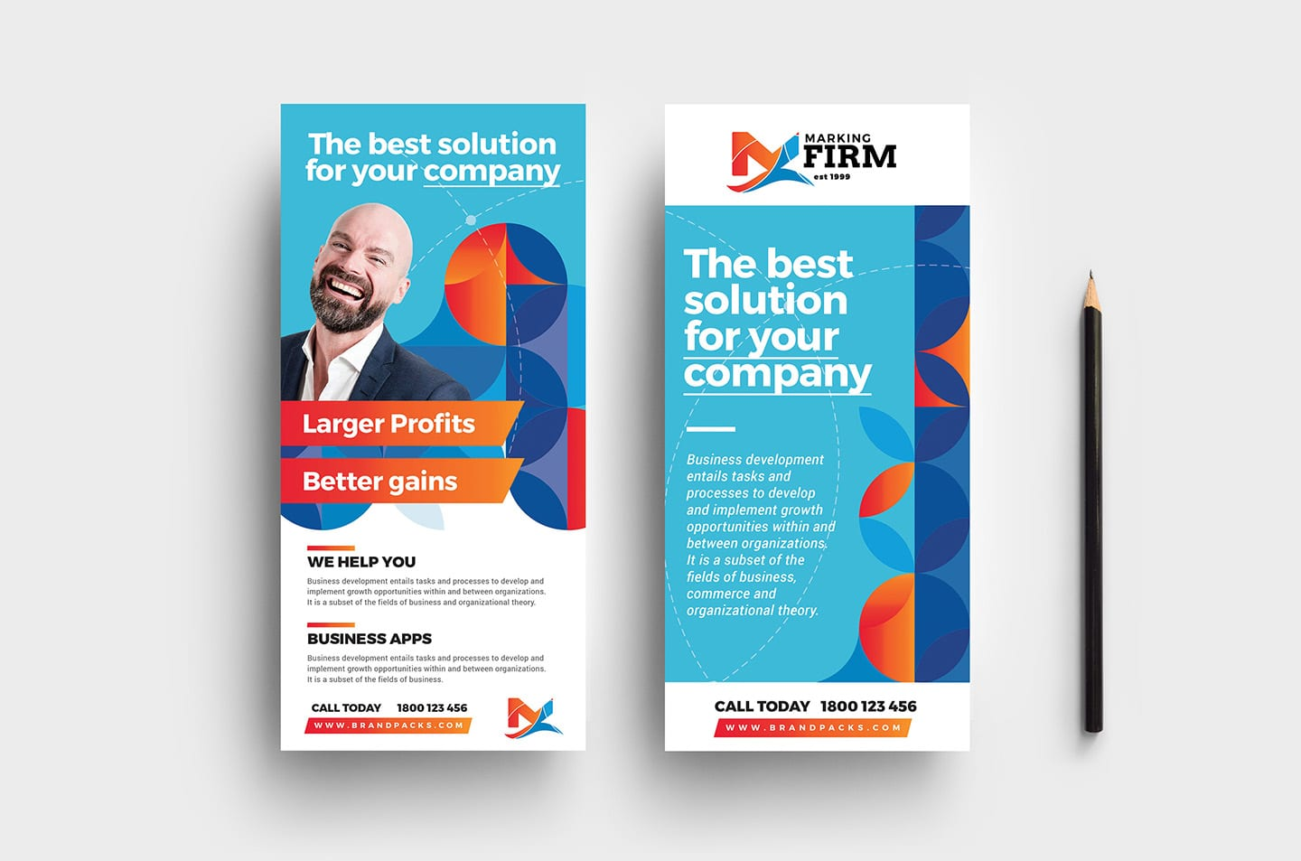 Modern Corporate DL Card Templates