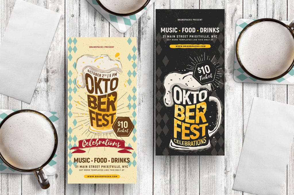 Oktoberfest DL Rack Card Templates