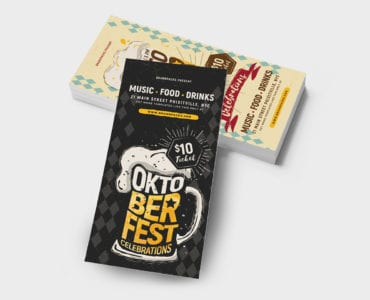 Oktoberfest DL Rack Card Template