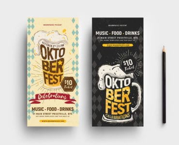 Oktoberfest DL Rack Card Templates