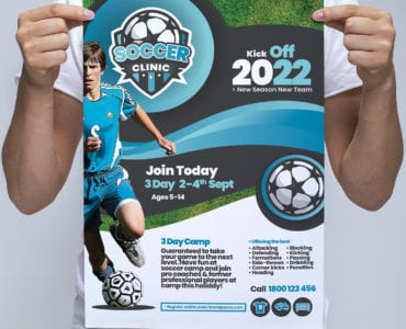 A3 Soccer Camp Poster Template