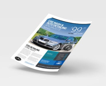 A4 Car Detailing Poster / Advertisement Template